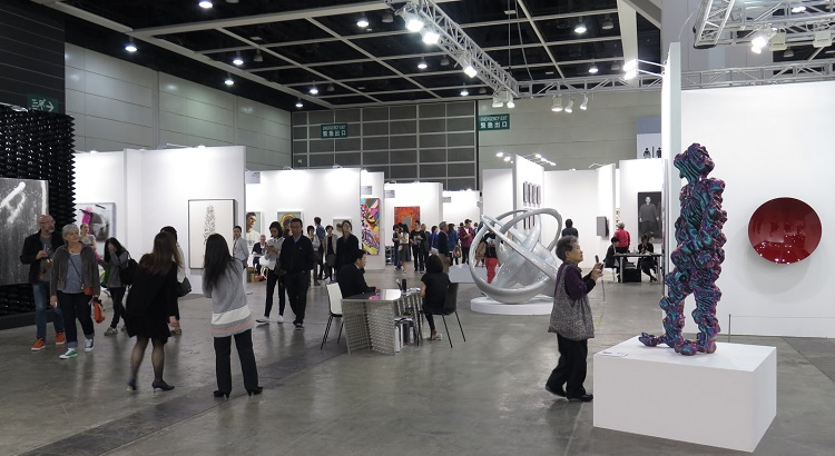 One of the exhibition spaces at Art Basel Hong Kong in 2015.