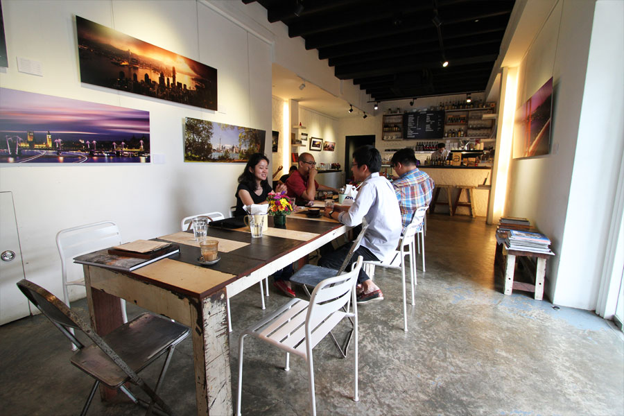 Munch on gluttonous brunch fare while checking out local artworks.