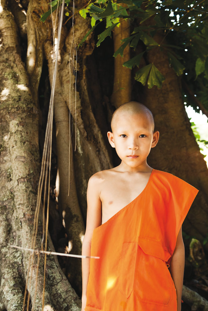 One of the town's many novice monks.