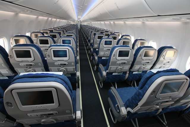 B737-900ERs with Boeing Sky Interiors offer expanded legroom and storage bins.