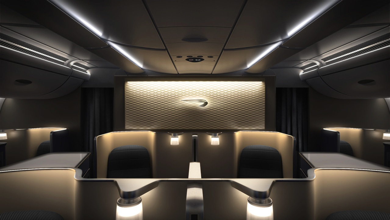 The interior of British Airway's first suites.