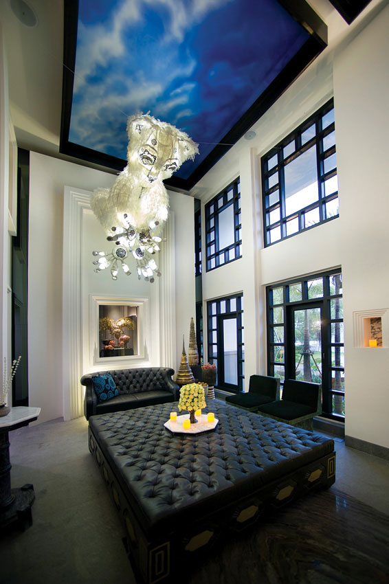 The sister property to the Shinta Mani Hotel features striking art and decor.