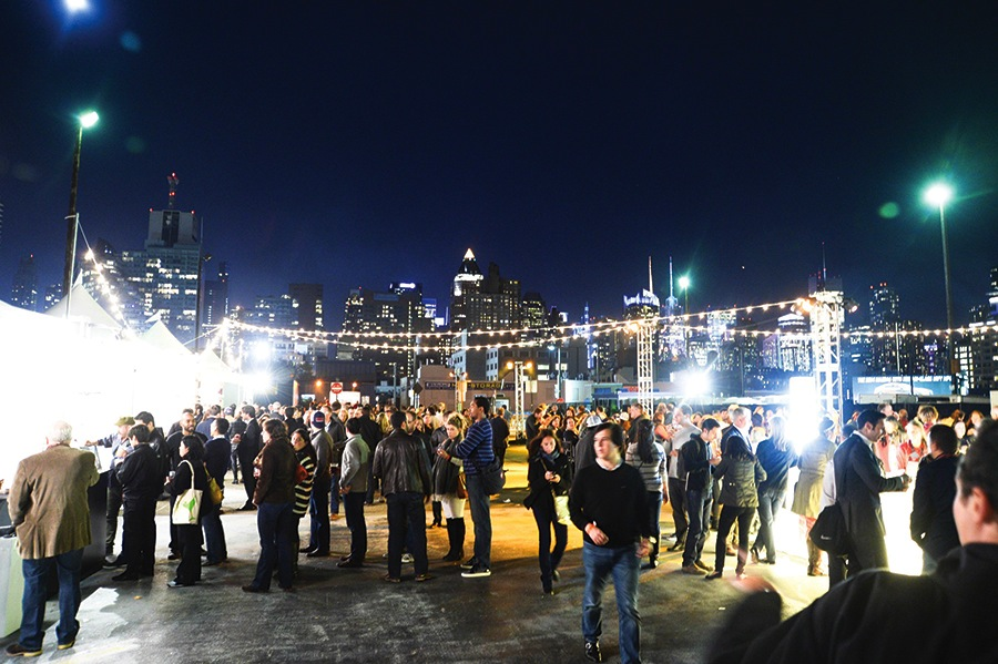A nighttime tasting event at last year's New York City Wine & Food Festival, now in its seventh year.
