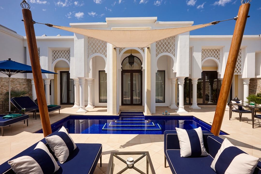 One of the villas at Banyan Tree Tamouda Bay.