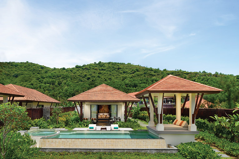 The Beach Pool Villas come with a pool, timber sundeck, and sala pavilion.