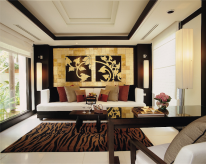 Phuket resorts: the living room of the Banyan Tree Spa Sanctuary.