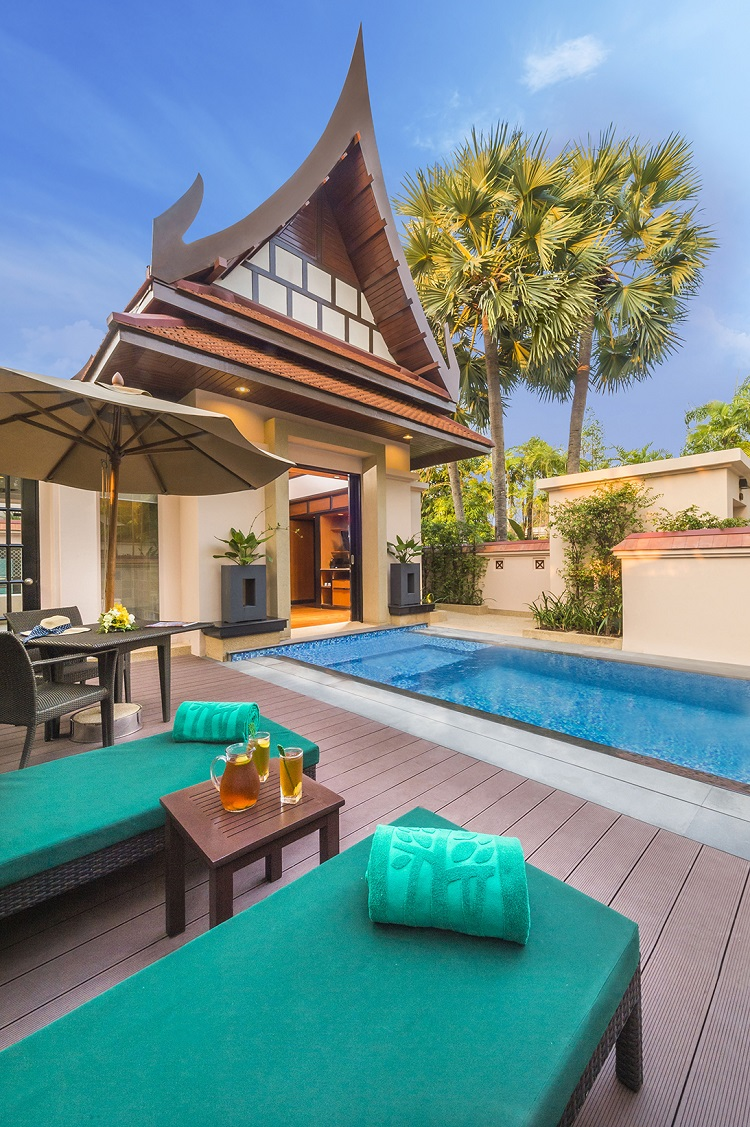 Enjoy a private swim in one of Banyan Tree Phuket's pool villas.