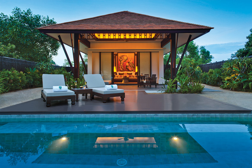 One of the 49 private villas at the Banyan Tree Lăng Cô.