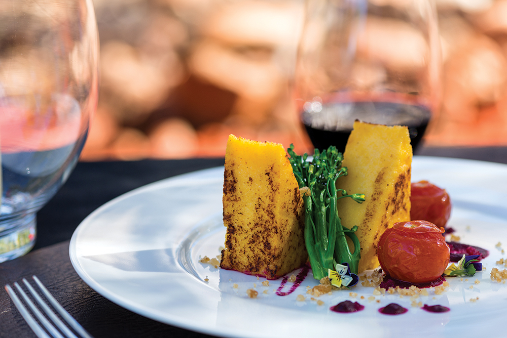 Outback ingredients feature in Ayers Rock Resort's Bush Tucker Trail dishes.