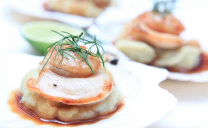 Seminyak Bali restaurants: Seafood Circus seared scallops