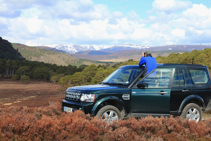 A Landrover safari tour through Balmoral's wildlife-filled Scottish estate.