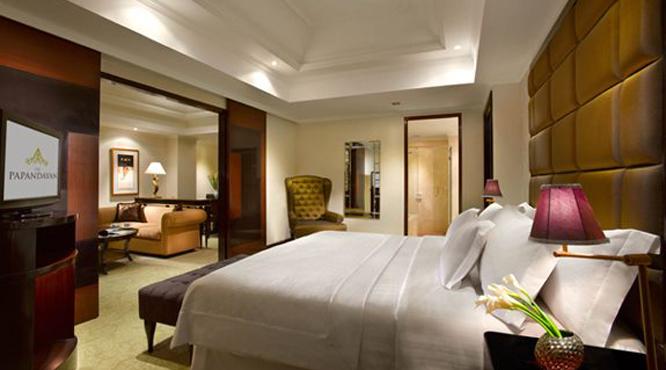 A room at the Papandayan Hotel in Bandung.