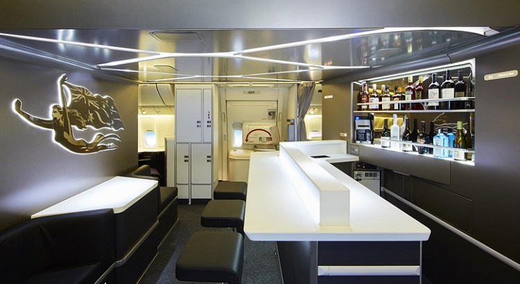 The new on-board bar and lounge area.