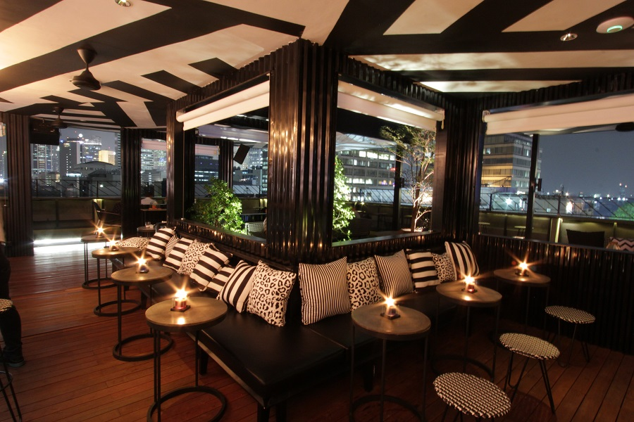 In addition to the outdoor area, pictured here, a private VIP room is available for reservations.