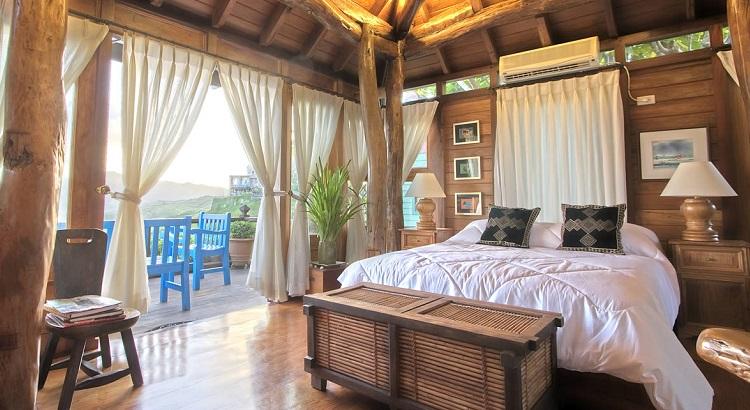 One of the rooms at the Fundacion Pacita Batanes Nature Lodge.