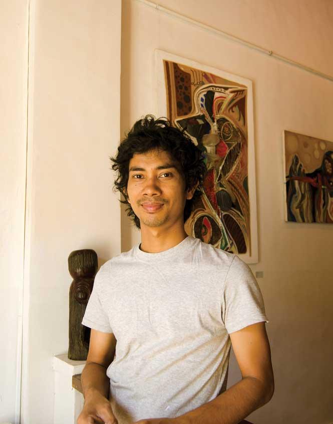 Battambang artist Mao Soviet.