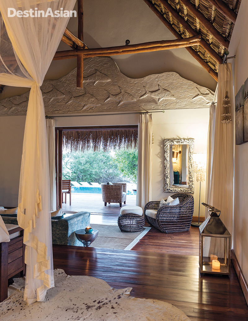 Inside a villa at Azura Benguerra Resort
