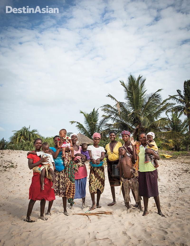 Villagers on Benguerra Island