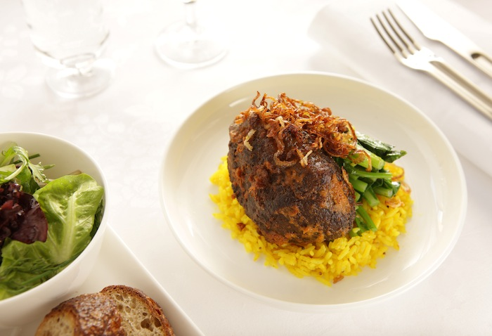Beef Rendang is served on select International Business Class flights.