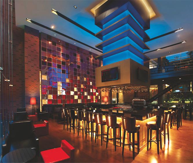 The bar at the Beer Vault in Bangkok.