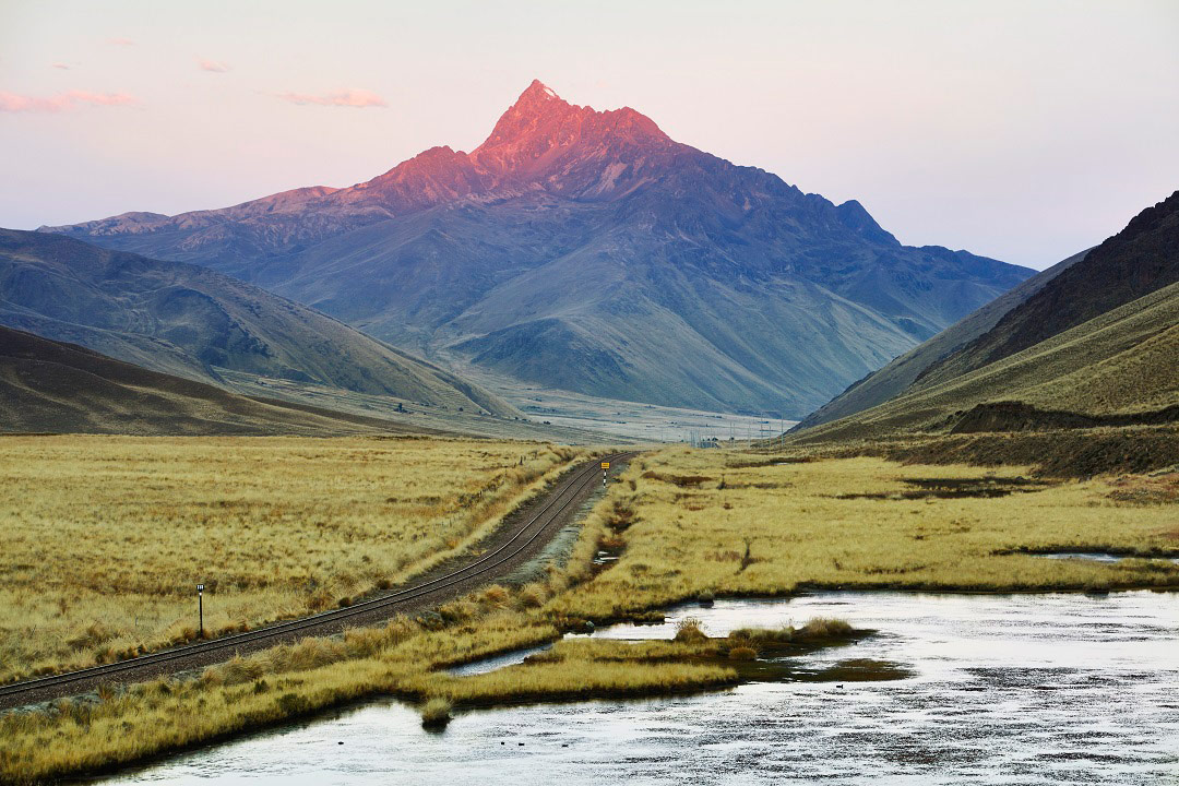 Rugged mountain scenery awaits for passengers of the Belmond Andean Explorer.