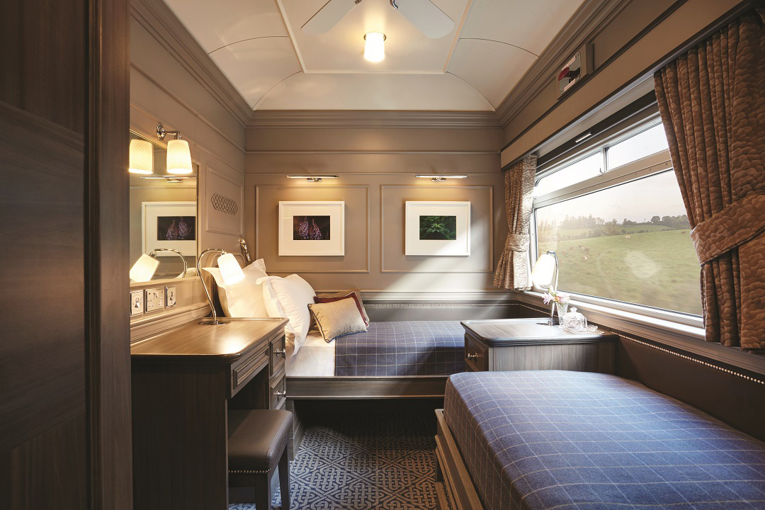 A cabin inside the Belmond Grand Hibernian.