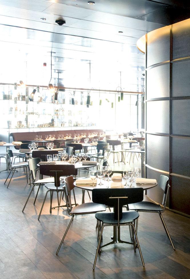 Tables at The Beresford.