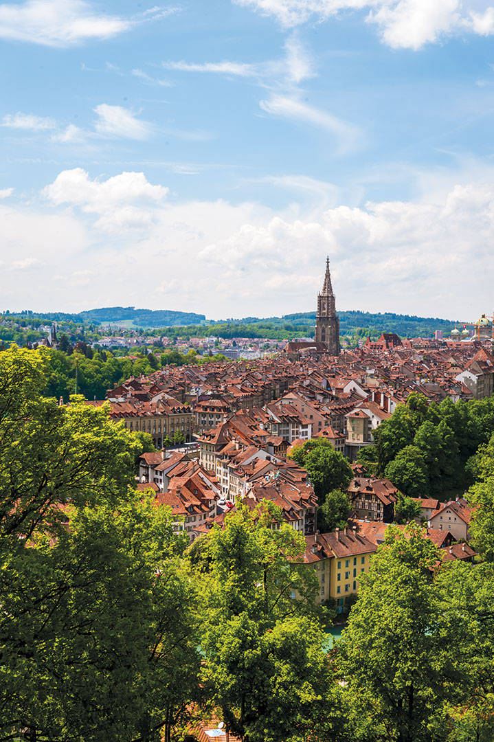 A view over Bern's World Heritage- listed Old Town. Photo by Lola Akinmade Åkenström.