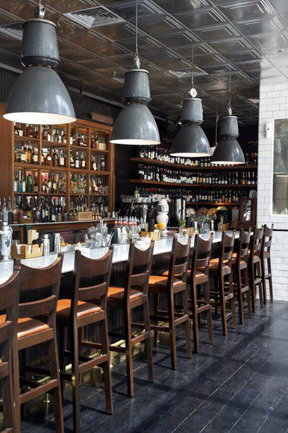 The bar at Union Brasserie, Bistro, and Bar in South Jakarta.