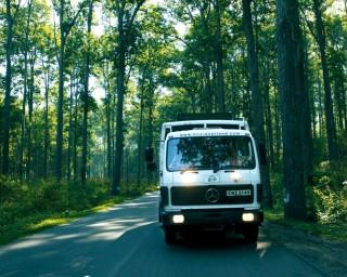 Truck Tour Parking in Himalayas