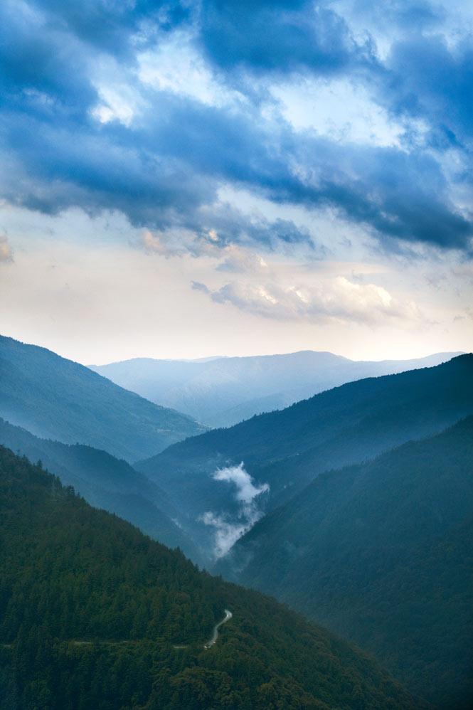 Bhutanese scenery.