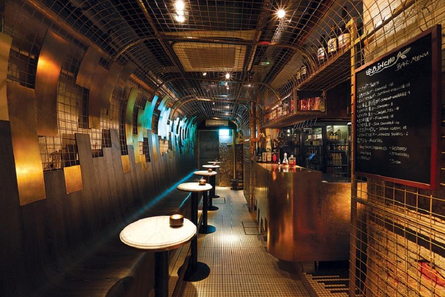 The bar at Bincho.