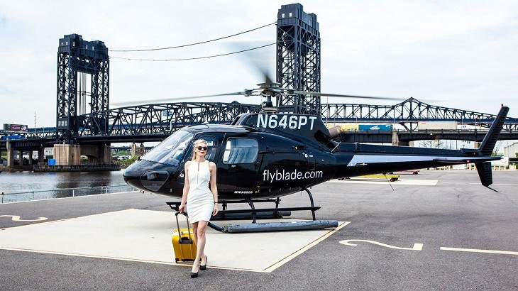 Blade offers city-dwellers on-demand helicopter and jet services.