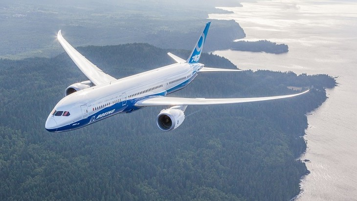The Boeing 787 aircraft.