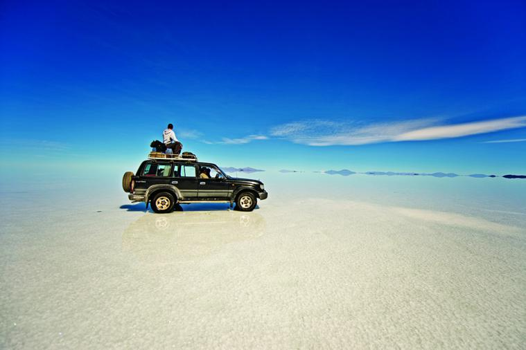 Salar De Uyuni is the largest salt flat in the world, a breathless 3,600 meters above sea level.
