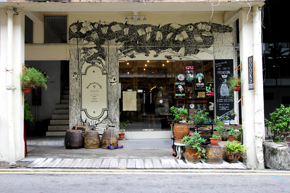 The storefront of BooksActually on Yong Siak Street.
