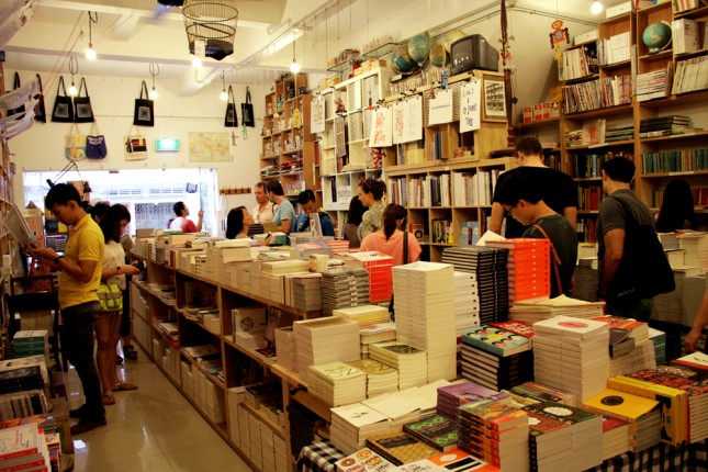 Small and independent retailers will be showcased at the Singapore Art Book Fair. BooksActually pictured here.