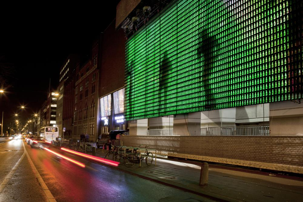 The Bottle Light Wall by Heineken Design Team.