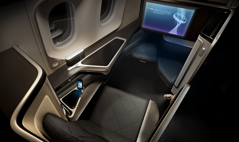 Aside from a 23-inch screen, flyers can also enjoy in-flight entertainment programs from a handset device.