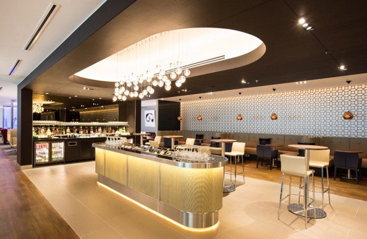 A selection of wine and other beverages is available at the new lounge.
