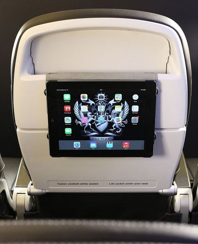 New seats can hold tablet devices.