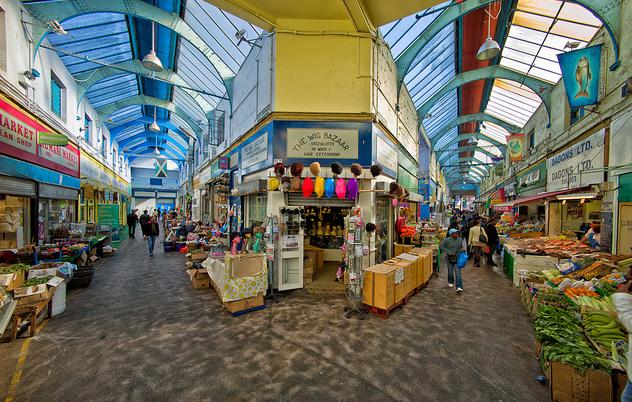 Brixton Village's renewed wet market.