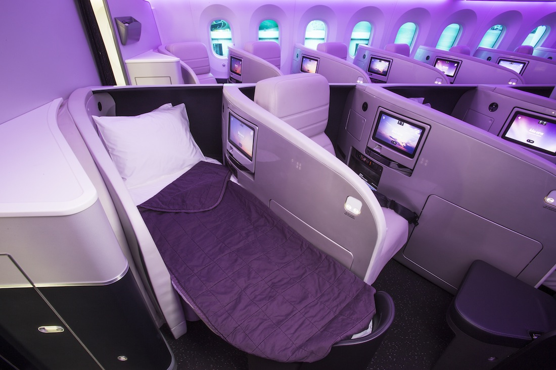 Business Premier class aboard the new Air New Zealand Dreamliner.