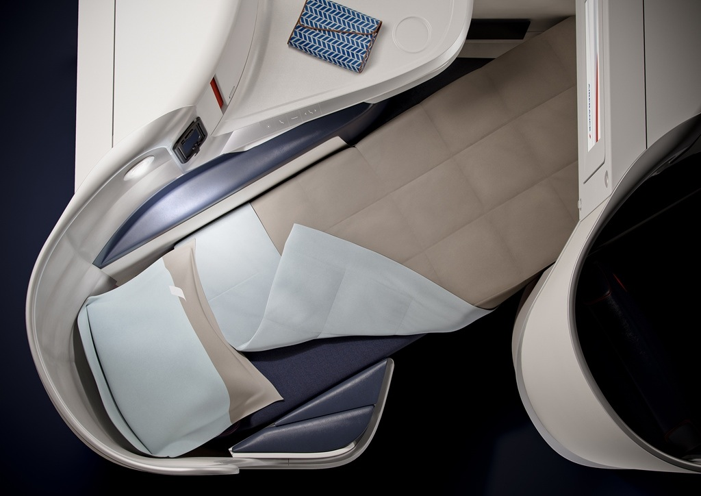 The seat was developed in collaboration with Zodiac Aerospace.