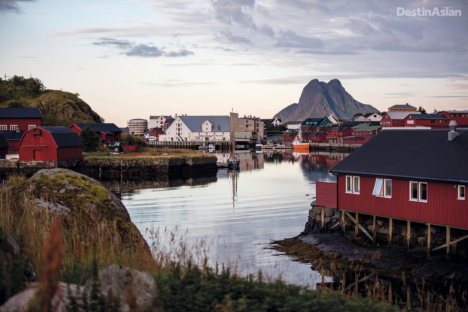 Stamsund village.