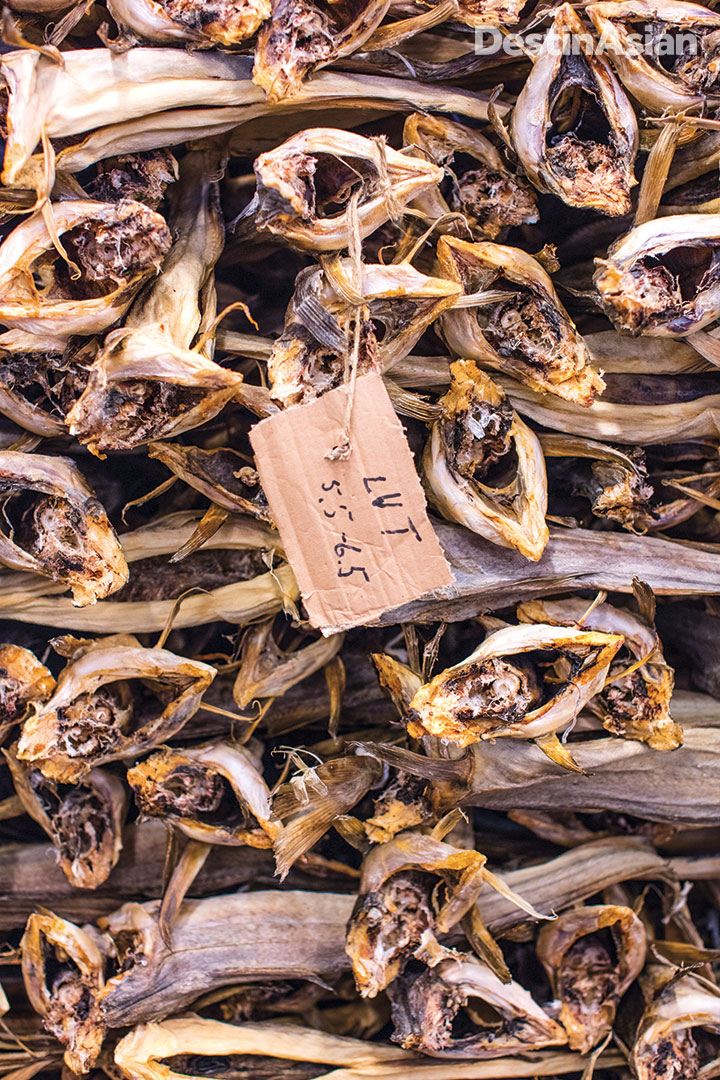 Dried codfish is the islands' main export.
