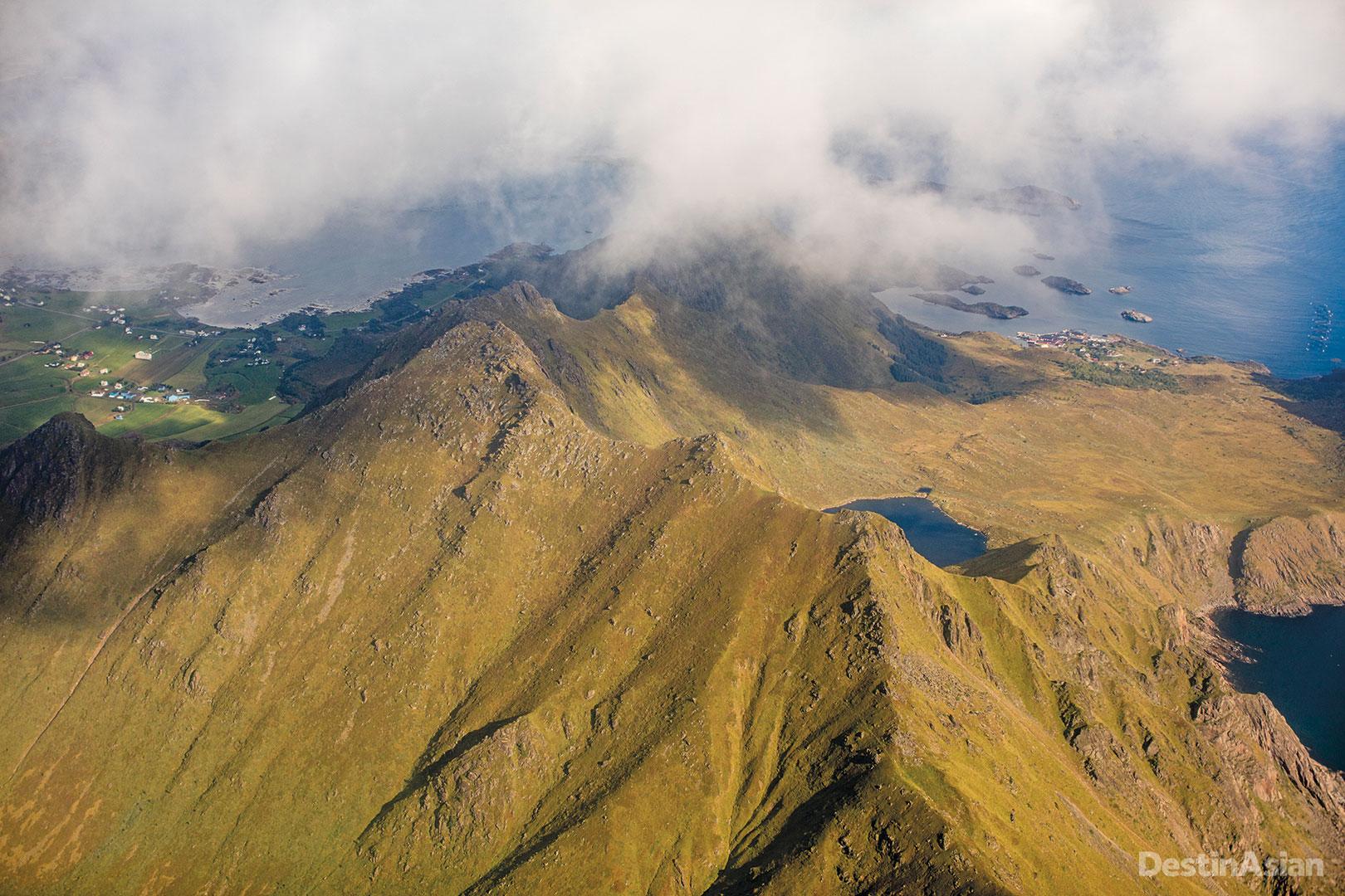 Mountainous terrain.