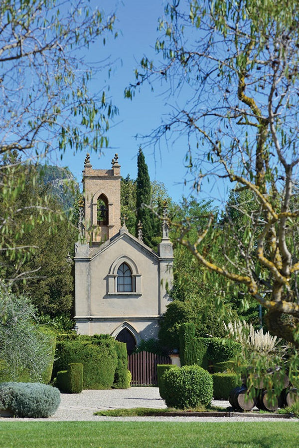 A chapel on the grounds of the sprawling, family-owned Bohigas wine estate in Odena.