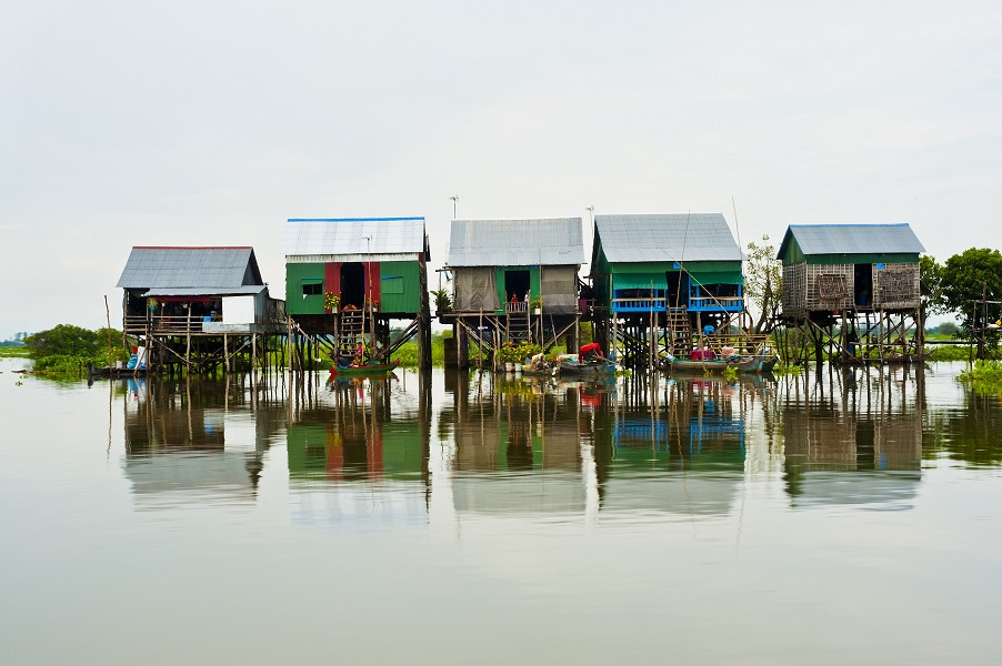 A floating village in Cambodia's Tonle Sap.