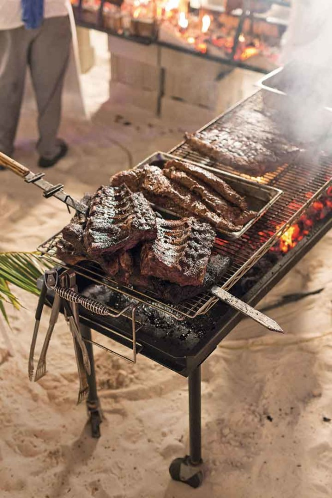"A ""barefoot barbecue"" at Royal Palms Beach Club."